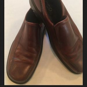 Ecco Mens Brown Leather Slip On Loafers Size US 13